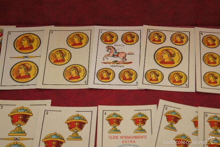 Barajas de cartas: BARAJA 48 NAIPES LUIS GUARRO BARCELONA EL CABALLO PARA CASINOS 1907 - Foto 3 - 58605291