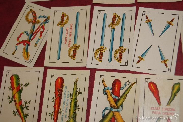 Barajas de cartas: BARAJA 48 NAIPES LUIS GUARRO BARCELONA EL CABALLO PARA CASINOS 1907 - Foto 4 - 58605291