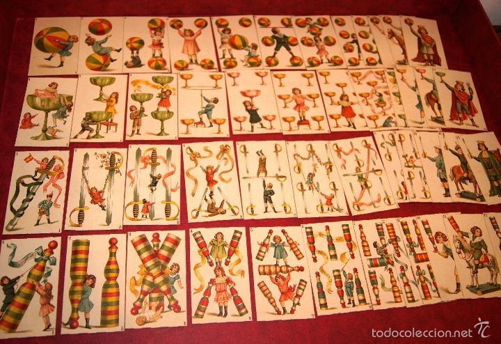 BARAJA DE NIÑOS COMPLETA 48 CROMOS 1896 PUBLICIDAD CHOCOLATES A. SOLE ALSINA. BARCELONA (Juguetes y Juegos - Cartas y Naipes - Barajas Infantiles)