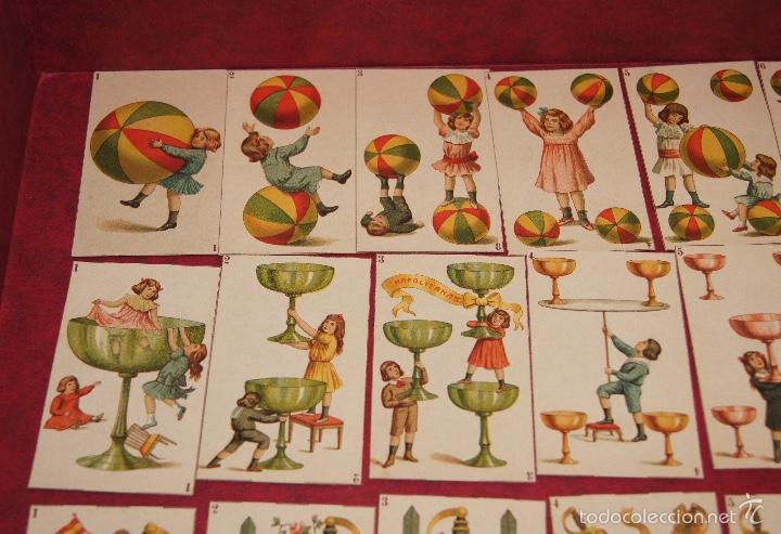 Barajas de cartas: BARAJA DE NIÑOS COMPLETA 48 CROMOS 1896 PUBLICIDAD CHOCOLATES A. SOLE ALSINA. BARCELONA - Foto 2 - 58605408