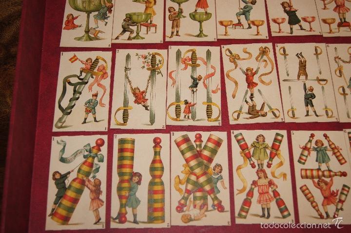 Barajas de cartas: BARAJA DE NIÑOS COMPLETA 48 CROMOS 1896 PUBLICIDAD CHOCOLATES A. SOLE ALSINA. BARCELONA - Foto 3 - 58605408