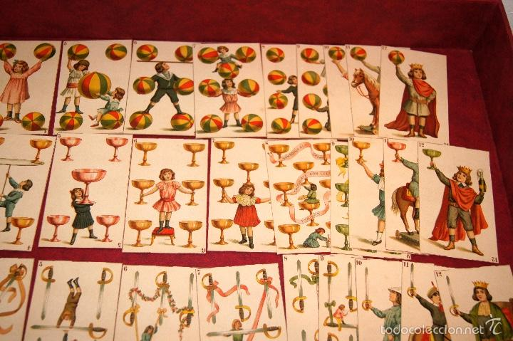 Barajas de cartas: BARAJA DE NIÑOS COMPLETA 48 CROMOS 1896 PUBLICIDAD CHOCOLATES A. SOLE ALSINA. BARCELONA - Foto 4 - 58605408