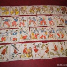 Barajas de cartas: BARAJA CUATRO COMICOS 48 CROMOS PUBLICIDAD CHOCOLATES GUILLEN BARCELONA 1918. Lote 58606079