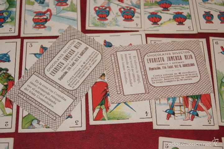 Barajas de cartas: BARAJA 48 CROMOS DON JUAN TENORIO PUBLICIDAD CHOCOLATES EVARISTO JUNCOSA 1920 - Foto 5 - 58606222