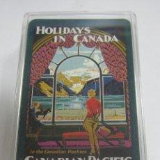 Barajas de cartas: BARAJA DE CARTAS. CON CAJA. PUBLICITARIA. HOLIDAYS IN CANADA. CANADIAN PACIFIC. POKER.. Lote 58723928