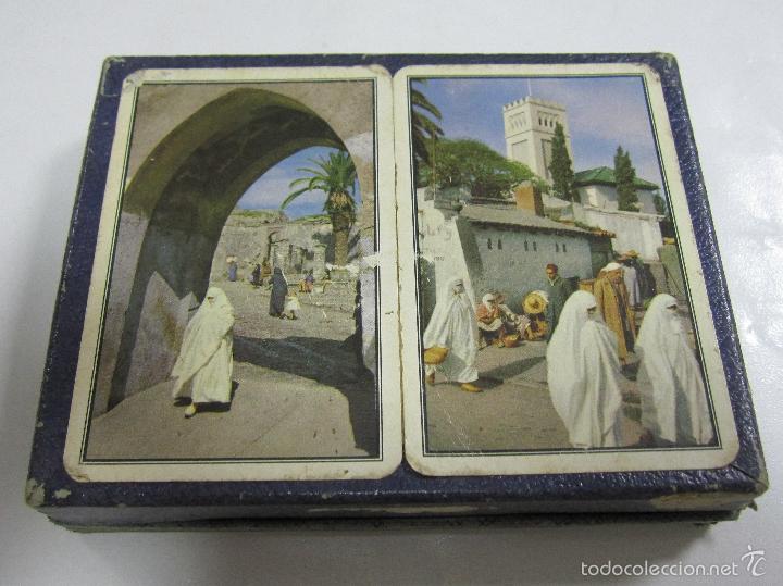BARAJA DE CARTAS DOBLE. PUBLICITARIA. FERD-PIATNIK & SOHNE. VISTAS DE MARRUECOS. POKER. CON CAJA (Juguetes y Juegos - Cartas y Naipes - Barajas de Póker)