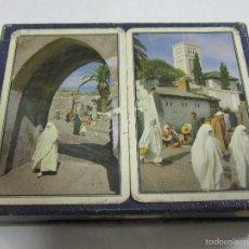 Barajas de cartas: BARAJA DE CARTAS DOBLE. PUBLICITARIA. FERD-PIATNIK & SOHNE. VISTAS DE MARRUECOS. POKER. CON CAJA. Lote 58725080
