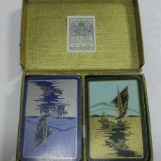 Barajas de cartas: BARAJA DE CARTAS INGLESA DE BARCOS. DE LA RUE STATIONERS. POKER. KING GEORGE VI. CON CAJA. Lote 58725778