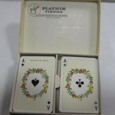 Barajas de cartas: BARAJA DE CARTAS DOBLE. PIATNIK VIENNA. AUSTRIACA. POKER. CON CAJA. DORSO DE PAJAROS. VER. Lote 150990394