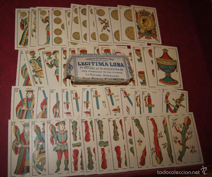 BARAJA 48 NAIPES LEGITIMA LOBA DOS MUNDOS JUAN ROURA BARCELONA 1916 (Juguetes y Juegos - Cartas y Naipes - Otras Barajas)