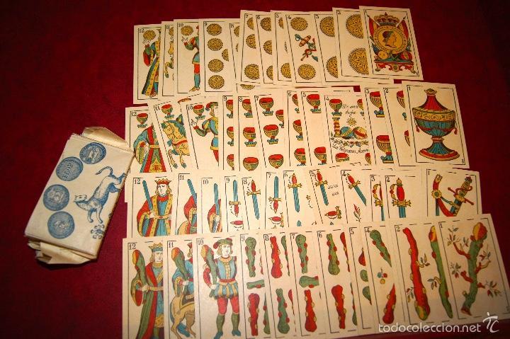 Barajas de cartas: BARAJA 48 NAIPES LEGITIMA LOBA DOS MUNDOS JUAN ROURA BARCELONA 1916 - Foto 3 - 58776401