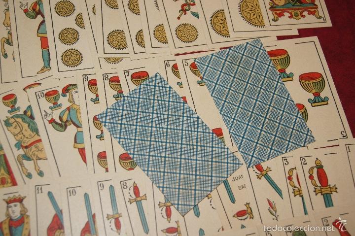 Barajas de cartas: BARAJA 48 NAIPES LEGITIMA LOBA DOS MUNDOS JUAN ROURA BARCELONA 1916 - Foto 4 - 58776401