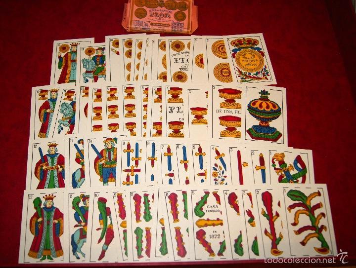 BARAJA LA FLOR DE CADIZ JUAN ROURA 1939 48 NAIPES (Juguetes y Juegos - Cartas y Naipes - Otras Barajas)