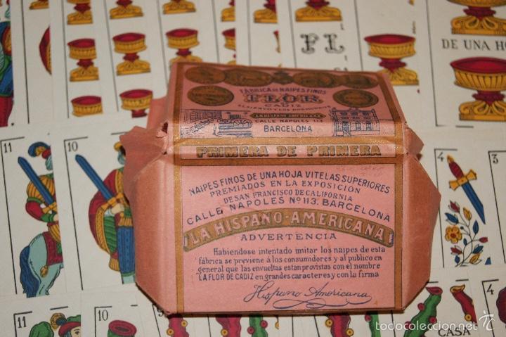 Barajas de cartas: BARAJA LA FLOR DE CADIZ JUAN ROURA 1939 48 NAIPES - Foto 2 - 58777346