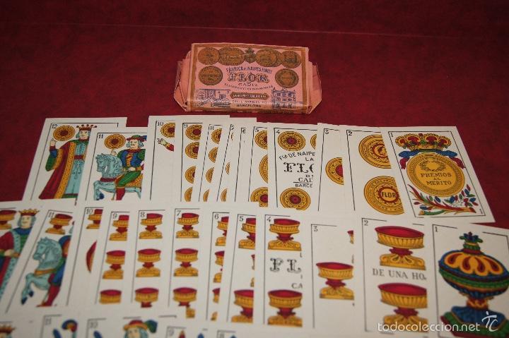 Barajas de cartas: BARAJA LA FLOR DE CADIZ JUAN ROURA 1939 48 NAIPES - Foto 3 - 58777346