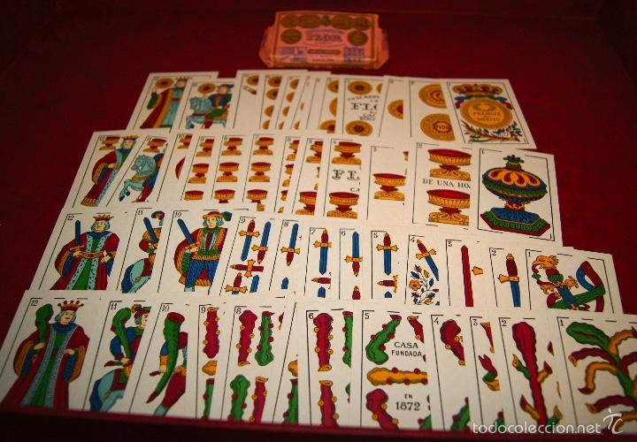 Barajas de cartas: BARAJA LA FLOR DE CADIZ JUAN ROURA 1939 48 NAIPES - Foto 4 - 58777346