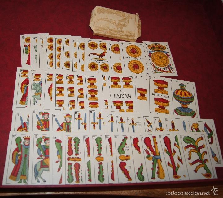 BARAJA 48 NAIPES EL FAISAN MANILA HIJA DE ANTONIO COMAS BARCELONA 1934 (Juguetes y Juegos - Cartas y Naipes - Otras Barajas)