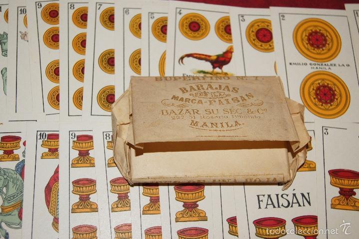 Barajas de cartas: BARAJA 48 NAIPES EL FAISAN MANILA HIJA DE ANTONIO COMAS BARCELONA 1934 - Foto 2 - 58777766