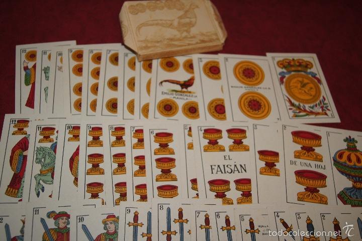 Barajas de cartas: BARAJA 48 NAIPES EL FAISAN MANILA HIJA DE ANTONIO COMAS BARCELONA 1934 - Foto 3 - 58777766