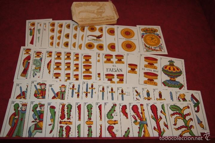 Barajas de cartas: BARAJA 48 NAIPES EL FAISAN MANILA HIJA DE ANTONIO COMAS BARCELONA 1934 - Foto 4 - 58777766