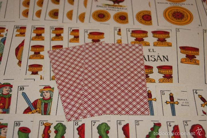 Barajas de cartas: BARAJA 48 NAIPES EL FAISAN MANILA HIJA DE ANTONIO COMAS BARCELONA 1934 - Foto 5 - 58777766