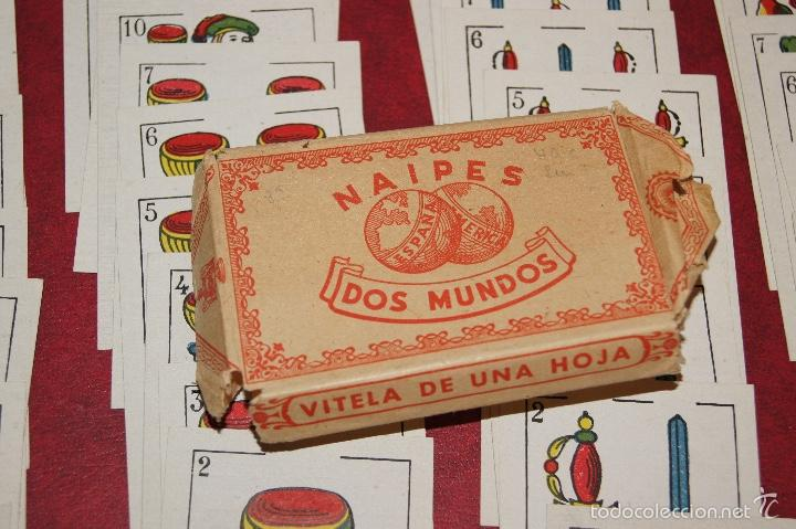 Barajas de cartas: BARAJA NAIPES DOS MUNDOS 40 NAIPES JUAN ROURA BARCELONA LA HISPANO AMERICANA 1939 - Foto 2 - 58779686