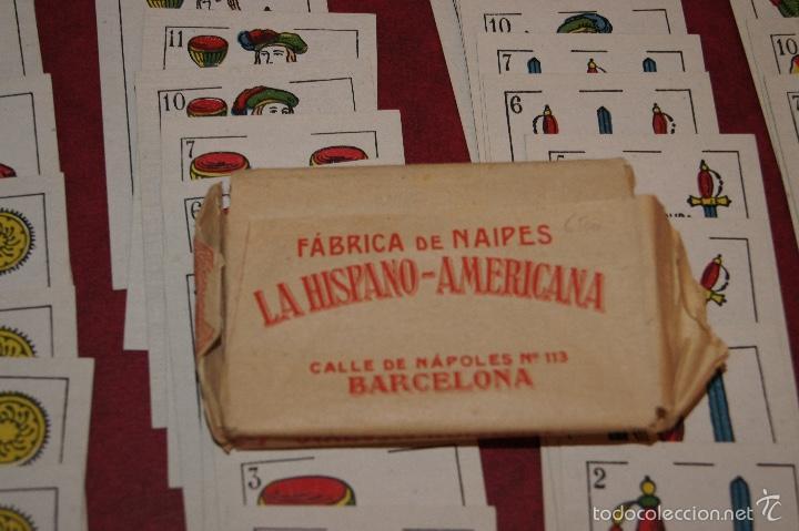 Barajas de cartas: BARAJA NAIPES DOS MUNDOS 40 NAIPES JUAN ROURA BARCELONA LA HISPANO AMERICANA 1939 - Foto 3 - 58779686