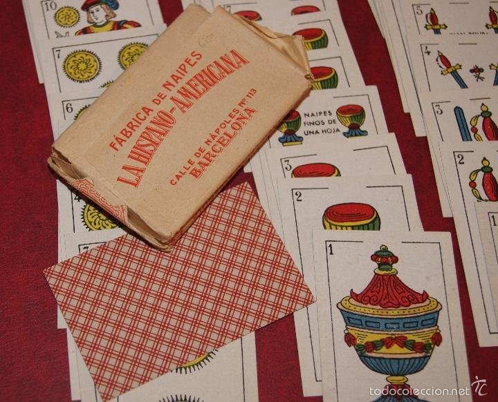 Barajas de cartas: BARAJA NAIPES DOS MUNDOS 40 NAIPES JUAN ROURA BARCELONA LA HISPANO AMERICANA 1939 - Foto 5 - 58779686