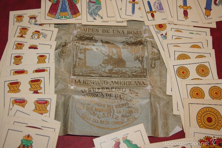 Barajas de cartas: BARAJA 40 NAIPES VIUDA J. ROURA Y PRESAS BARCELONA 1903 EL SIERVO, DOS MUNDOS Y FLOR DE CADIZ - Foto 2 - 58780136