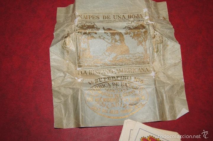 Barajas de cartas: BARAJA 40 NAIPES VIUDA J. ROURA Y PRESAS BARCELONA 1903 EL SIERVO, DOS MUNDOS Y FLOR DE CADIZ - Foto 5 - 58780136