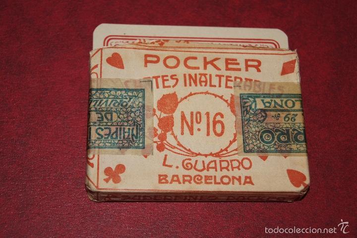 BARAJA POCKER Nº 16 L. GUARRO BARCELONA 1918-1925 48 NAIPES (Juguetes y Juegos - Cartas y Naipes - Otras Barajas)
