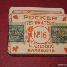 Barajas de cartas: BARAJA POCKER Nº 16 L. GUARRO BARCELONA 1918-1925 48 NAIPES. Lote 58780501