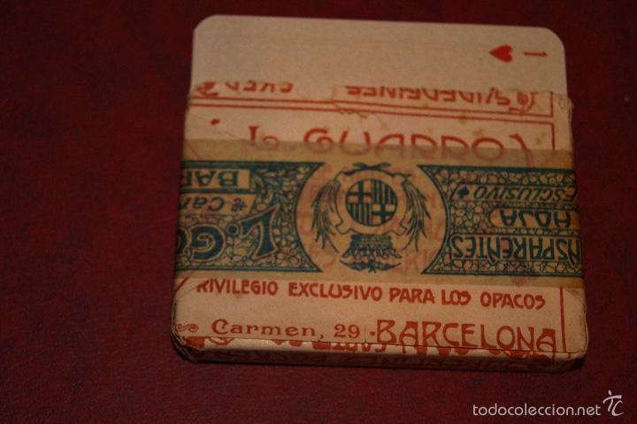Barajas de cartas: BARAJA POCKER Nº 16 L. GUARRO BARCELONA 1918-1925 48 NAIPES - Foto 2 - 58780501