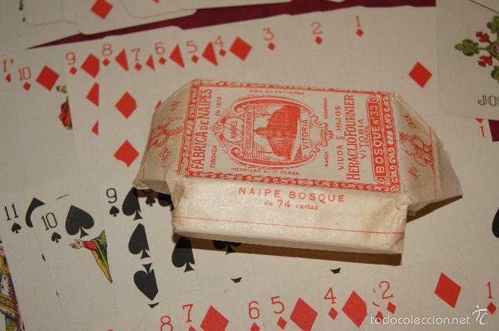 Barajas de cartas: BARAJA JUEGO DE LA RUEDA BOSQUE Nº 33 74 NAIPES VDA E HIJOS H. FOURNIER 1918-1925 - Foto 5 - 58782236