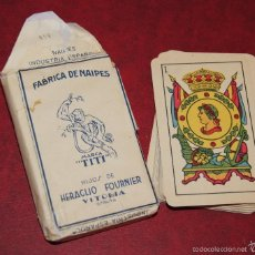 Barajas de cartas: BARAJA TITI BLANCO 40 NAIPES HIJOS DE HERACLIO FOURNIER VITORIA 1939. Lote 58783001
