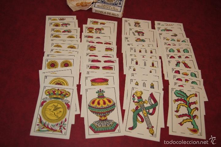 Barajas de cartas: BARAJA 48 NAIPES DOS VENADOS MANILA HIJA DE ANTONIO COMAS BARCELONA 1934 - Foto 3 - 58784056