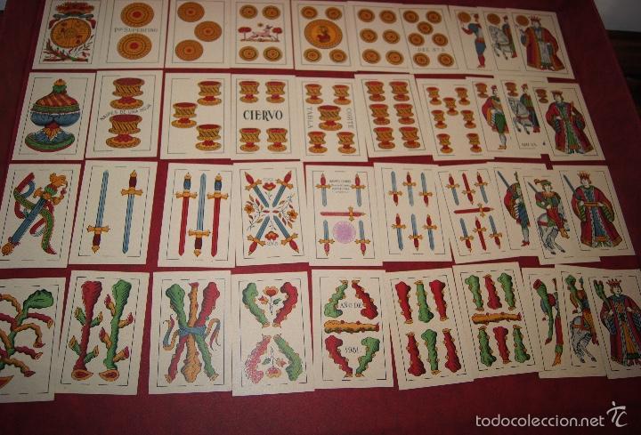BARAJA 40 NAIPES HIJA DE ANTONIO COMAS EL CIERVO 1951 (Juguetes y Juegos - Cartas y Naipes - Otras Barajas)