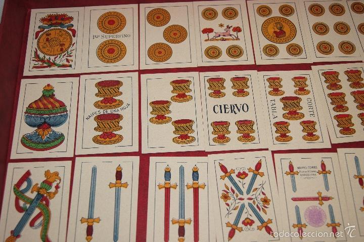 Barajas de cartas: BARAJA 40 NAIPES HIJA DE ANTONIO COMAS EL CIERVO 1951 - Foto 2 - 58810611