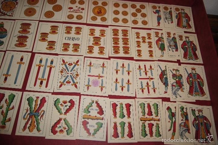 Barajas de cartas: BARAJA 40 NAIPES HIJA DE ANTONIO COMAS EL CIERVO 1951 - Foto 4 - 58810611