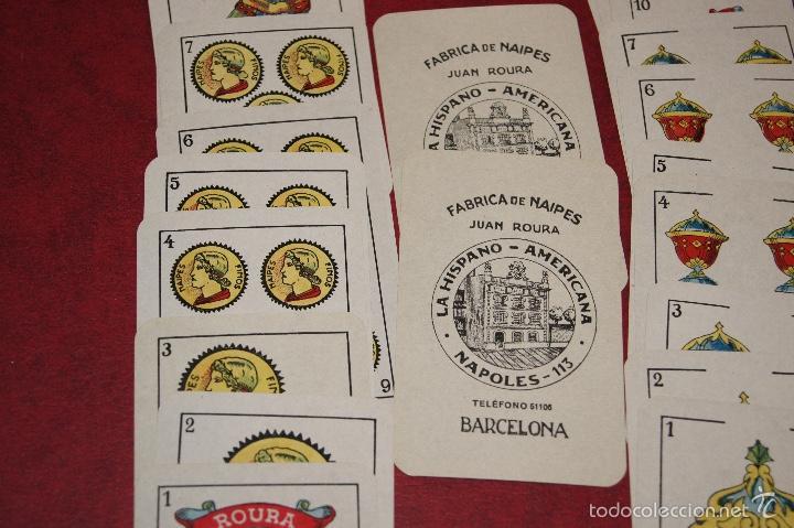 Barajas de cartas: BARAJA 40 + 2 NAIPES JUAN ROURA LA HISPANO AMERICANA 1932 - Foto 2 - 58814346
