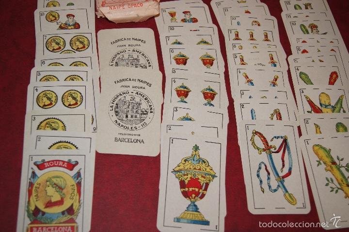 Barajas de cartas: BARAJA 40 + 2 NAIPES JUAN ROURA LA HISPANO AMERICANA 1932 - Foto 3 - 58814346