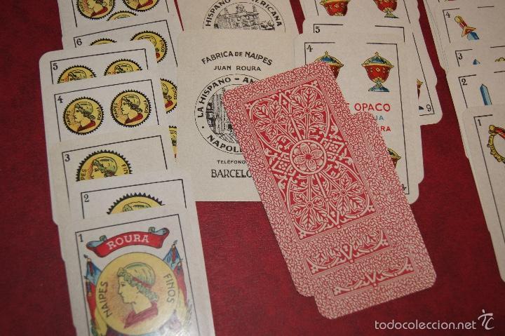 Barajas de cartas: BARAJA 40 + 2 NAIPES JUAN ROURA LA HISPANO AMERICANA 1932 - Foto 4 - 58814346