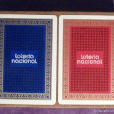 Barajas de cartas: BARAJA DE CARTAS - LOTERIA NACIONAL - FOURNIER - 1974 - JUEGO DE 2 - TEMA EL LIBRO ESPAÑOL C / CAJA. Lote 58835091