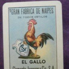 Barajas de cartas: NAIPES LOTERIA - 1A SERIE - CLEMENTE JACQUES - 54 CARTAS NUMERADAS - FALTA LA 52 - TAROT¿?. Lote 58835161