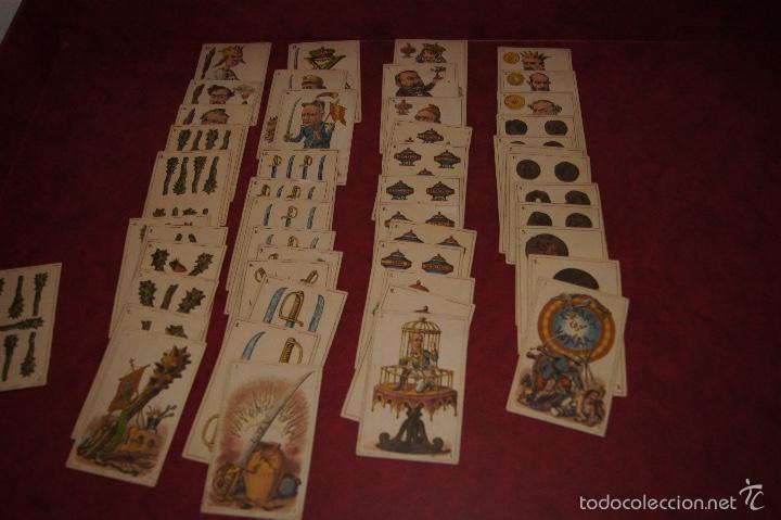 BARAJA POLITICA 48 CARTAS 1872 ESPAÑA CON HONRA FRANCAR Y CIA BARCELONA RARA (Juguetes y Juegos - Cartas y Naipes - Baraja Española)