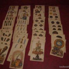 Barajas de cartas: BARAJA POLITICA 48 CARTAS 1872 ESPAÑA CON HONRA FRANCAR Y CIA BARCELONA RARA. Lote 58845946