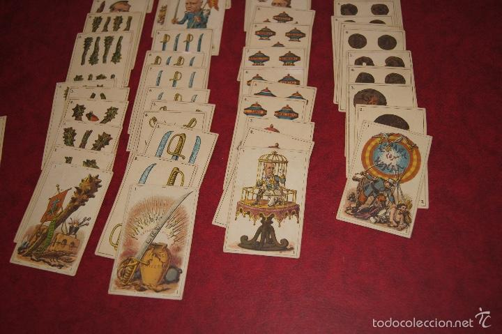 Barajas de cartas: BARAJA POLITICA 48 CARTAS 1872 ESPAÑA CON HONRA FRANCAR Y CIA BARCELONA RARA - Foto 2 - 58845946