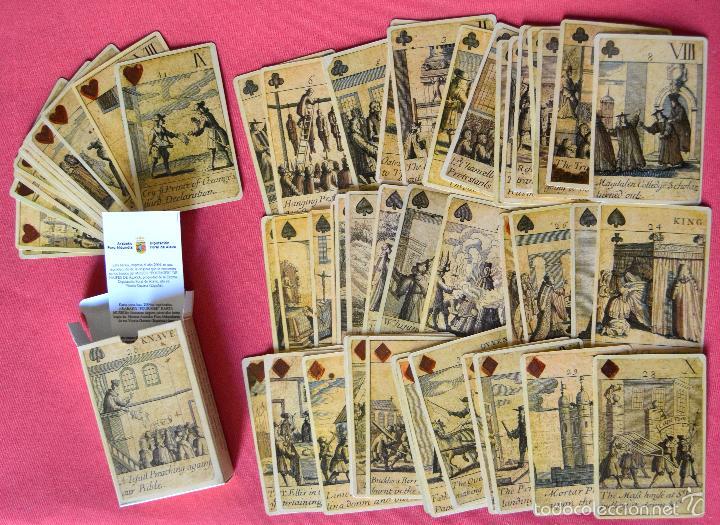 BARAJA REVOLUCIÓN - ISLAS BRITANICAS SIGLO XVII - REPRODUCCIÓN DEL ORIGINAL DEL MUSEO FOURNIER (Juguetes y Juegos - Cartas y Naipes - Otras Barajas)