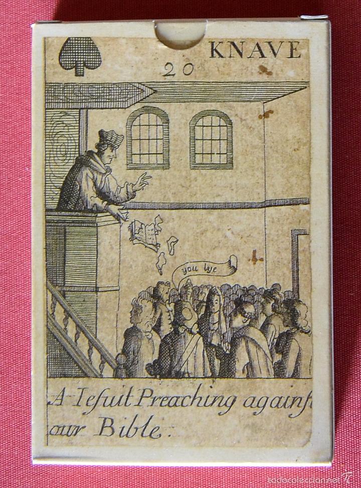 Barajas de cartas: BARAJA REVOLUCIÓN - ISLAS BRITANICAS SIGLO XVII - REPRODUCCIÓN DEL ORIGINAL DEL MUSEO FOURNIER - Foto 2 - 58881706