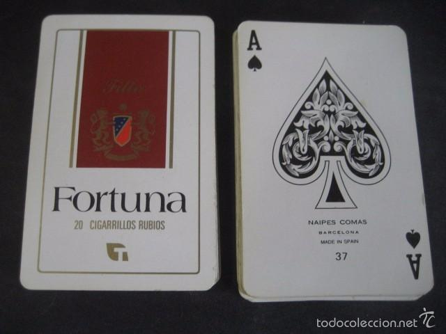 BARAJA POKER COMAS. PUBLICIDAD TABACO CIGARRILLOS FORTUNA (Juguetes y Juegos - Cartas y Naipes - Barajas de Póker)
